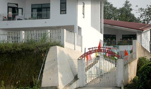 ột góc Trường Mầm non xã Xuân Giao, nơi cô Hằng làm Hiệu trưởng.