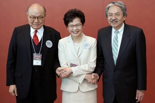 Woo Kwok-hing, Carrie Lam and John Tsang