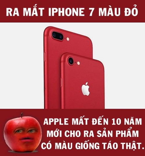 Mãi 10 năm điện thoại quả táo mới có màu giống táo.