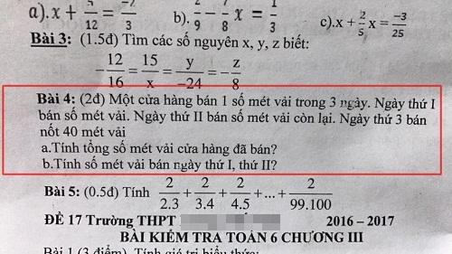 Bài toán của học sinh lớp 6 khiến người lớn chào thua.