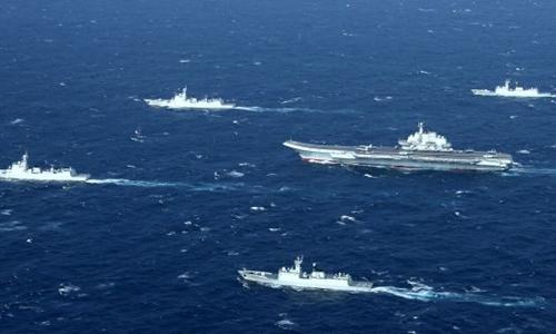 Hải quân Trung Quốc tập trận ở Biển Đông hồi tháng một. Ảnh: AFP