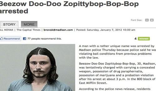 Người đàn ông sở hữu tên độc - Beezow Doo-Doo Zopittybo-Bop-Bop.
