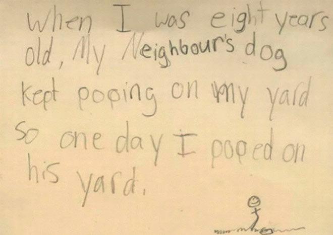 Những lời nhắn hài hước của trẻ con thế giới
