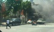 Video taxi nổ như bom ở Quảng Ninh, 2 người chết