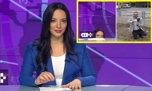MC xinh đẹp 'độn thổ' vì bị cầu hôn trên sóng truyền hình