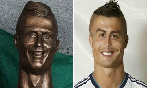 Khi bức tượng của Ronaldo tại sân bay biến thành thực tế.