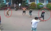Hai nhóm thanh niên cầm kiếm Nhật hỗn chiến trong sân bệnh viện