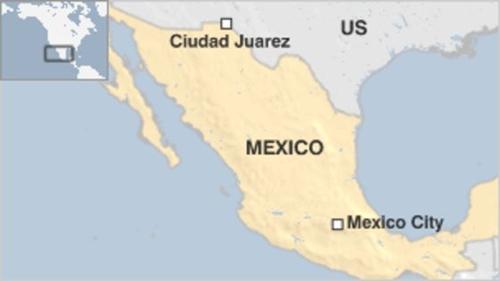 Vị trí thành phố Juarez, Mexico. Đồ họa: BBC.