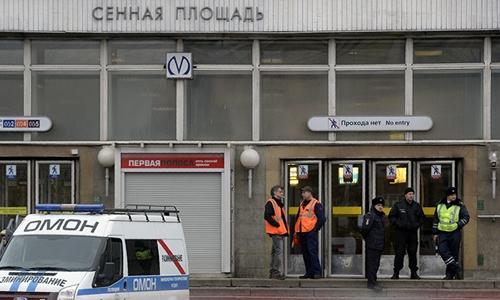 An ninh ở St. Petersburg được tăng cường sau vụ đánh bom tàu điện ngầm. Ảnh: AFP