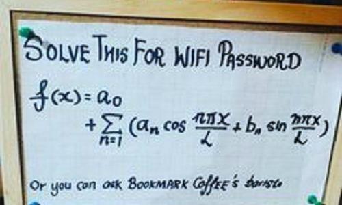 Nếu ngại hỏi nhân viên bạn có thể giải bài toán này để có được mật khẩu.