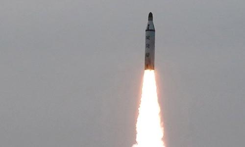Tên lửa Triều Tiên trong một lần phóng thử. Ảnh: KCNA.