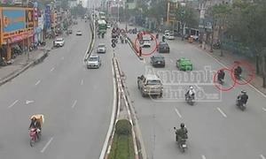 'Soi' camera giao thông lần ra nhóm chọc thủng lốp ôtô để trộm tiền