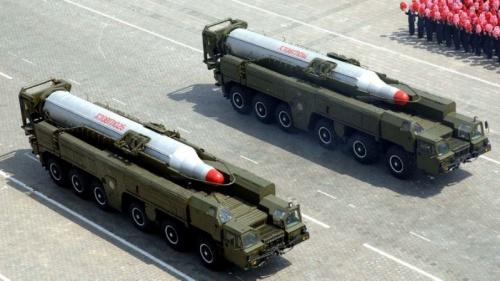 Tên lửa Triều Tiên trong một cuộc diễu hành năm 2012. Ảnh: AFP