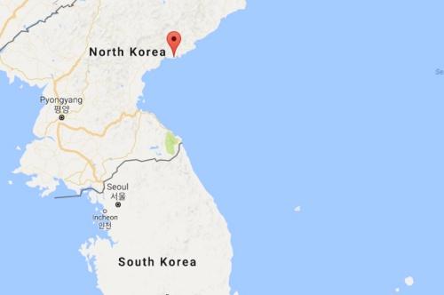 Vị trí vùng Sinpo, Triều Tiên (dấu đỏ). Đồ hoạ: Googlemaps