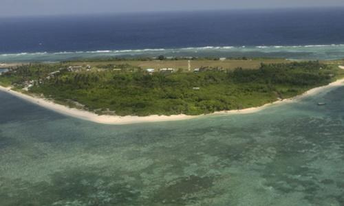 Đảo Thị Tứ, thuộc quần đảo Trường Sa của Việt Nam. Ảnh: AP