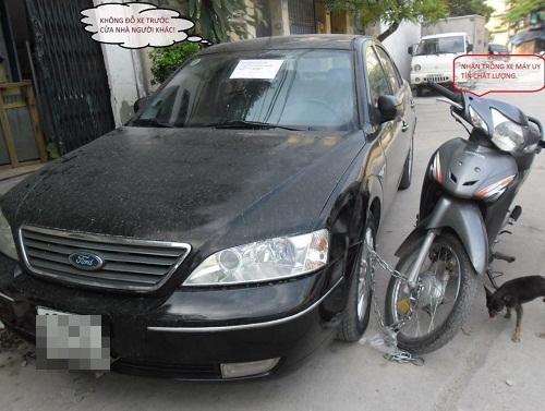 Giải pháp đối phó với những người đỗ ôtô chắn cửa.