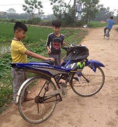 Siêu xe tự chế của trẻ con.