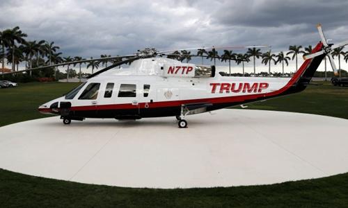 Một trực thăng Sikorsky S-76 của Tổng thống Trump. Ảnh: NY Post.