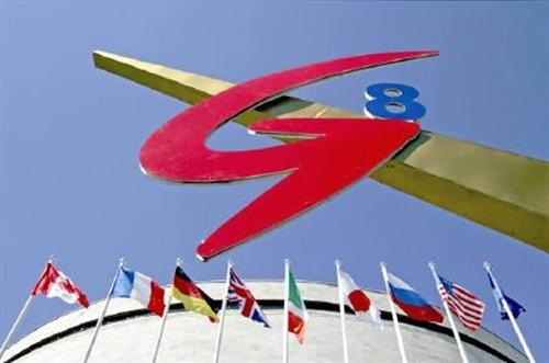 G8, gồm Nga và Pháp, Đức, Italy, Nhật Bản, Anh, Mỹ, Canada