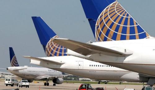 Các máy bay của hãng hàng không Mỹ United Airlines. Ảnh: