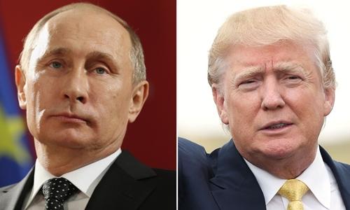 Tổng thống Nga Putin và Tổng thống Mỹ Trump. Ảnh: CNN
