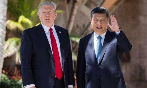 Hai nhà lãnh đạo Donald Trump và Tập Cận Bình trong cuộc gặp tại Mỹ. Ảnh: AFP