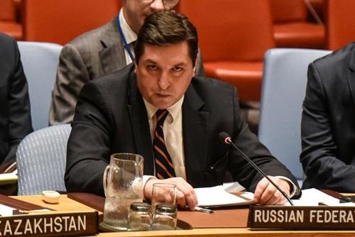 Vladimir Safronkov, phó đại sứ Nga tại Liên Hợp Quốc. Ảnh: AFP