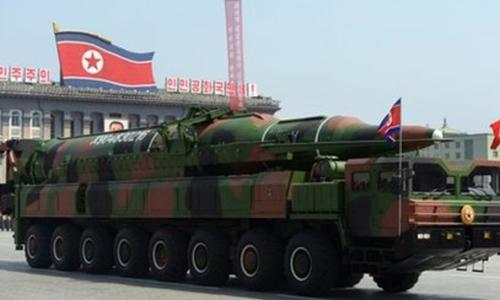 Tên lửa đạn đạo Triều Tiên. Ảnh: BBC