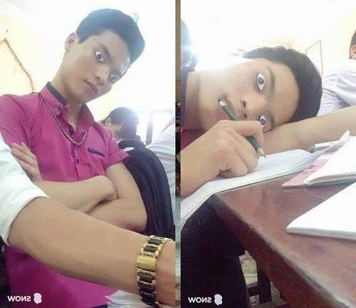 Bí kíp ngủ gật không bị giáo viên phát hiện.