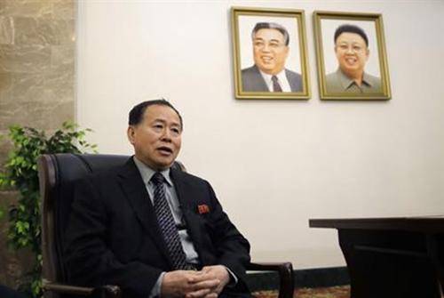 Thứ trưởng Ngoại giao Triều Tiên Han Song-ryol. Ảnh: AP.