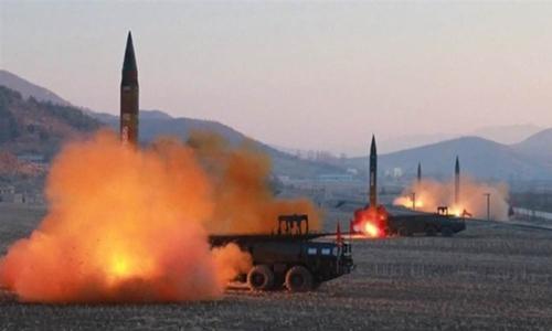 Một vụ phóng thử tên lửa của Triều Tiên. Ảnh: KRT.