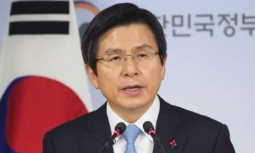Tổng thống tạm quyền Hàn Quốc Hwang Kyo-ahn. Ảnh: Kyodo