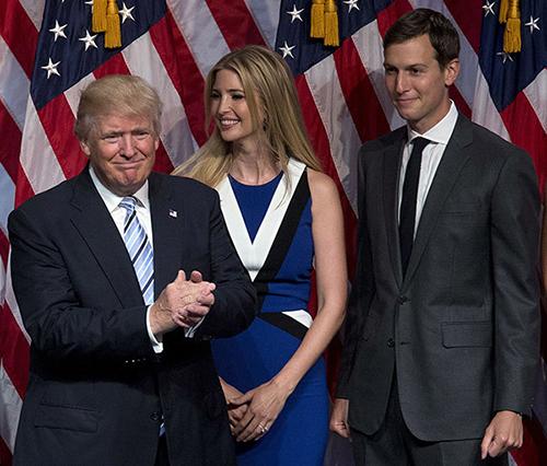 Tổng thống Mỹ Trump và vợ chồng con gái Ivanka,Jared Kushner
