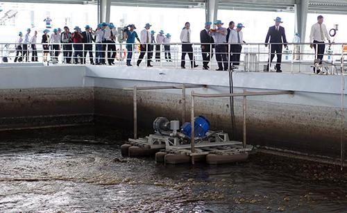:  nước thải tử hơn 17.000 hộ dân đưa về nhà máy xử lý.
