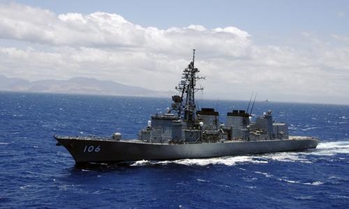 Tàu khu trục Nhật Bản Samidare. Ảnh: Wikimedia Commons.