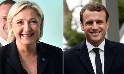 Bà Marine Le Pen và ông Emmanuel Macron. Ảnh: BBC