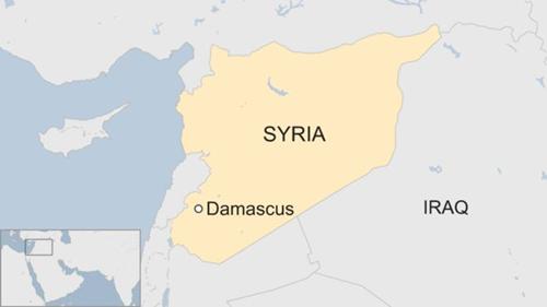 Vị trí thủ đô Damascus, Syria. Đồ họa: BBC.