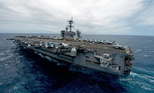 Tàu sân bay USS Carl Vinson. Ảnh: HawaiiReporter