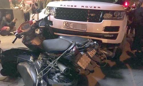 Cướp xe Range Rover chạy trốn, gây tai nạn liên hoàn ở Hà Nội