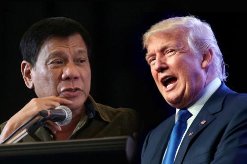 Tổng thống Philippines Rodrigo Duterte và Tổng thống Mỹ Donald Trump. Ảnh: Inquirer