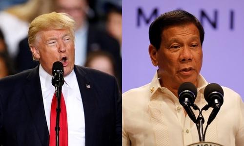 Tổng thống Mỹ Donald Trump mời người đồng cấp Rodrigo Duterte