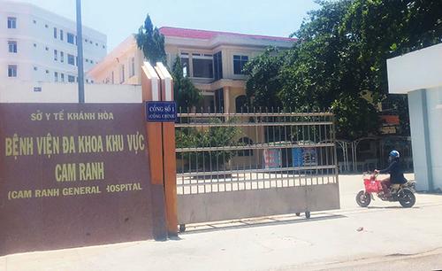 Bệnh viện đa khoa Cam Ranh, Khánh Hòa - nơi thai nhi tử vong. Ảnh: An Phước