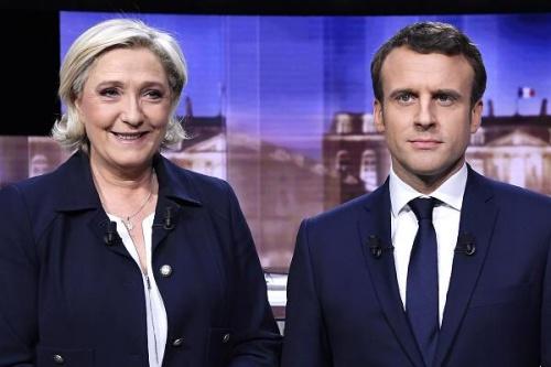 Hai ứng viên tổng thống Pháp Marine Le Pen và Emmanuel Macron. Ảnh: CNBC