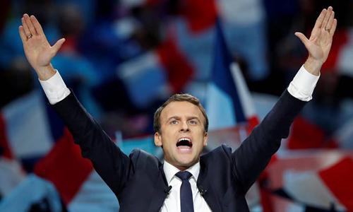 Tân Tổng thống Pháp Emmanuel Macron. Ảnh: Reuters