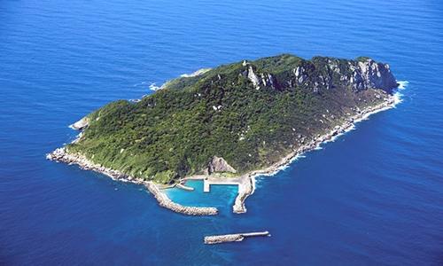 Đảo Okinoshima của Nhật Bản. Ảnh: Asahi Shimbun.