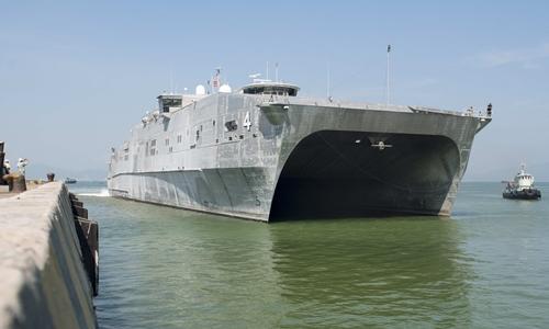 Tàu USNS Fall River. Ảnh: Tổng lãnh sự quán Mỹ tại TP HCM.