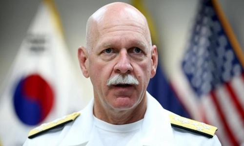 Đô đốc Scott Swift, Tư lệnh Hạm đội Thái Bình Dương của Mỹ. Ảnh: Reuters.