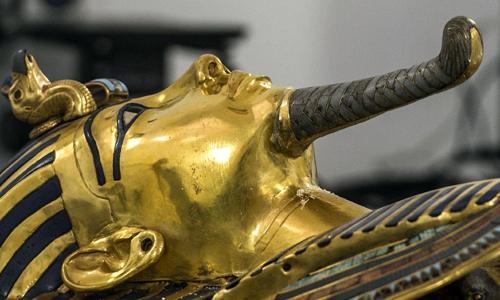 Mặt nạ vàng của Pharaoha Tutakhamun. Ảnh: AFP.