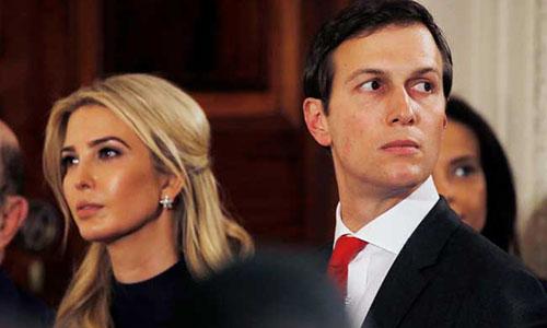 Jared Kushner và vợ Ivanka Trump. Ảnh NDTV