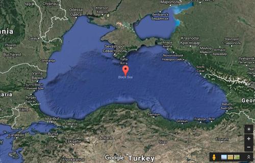 Bản đồ khu vực Biển Đen. Ảnh: Google Maps.